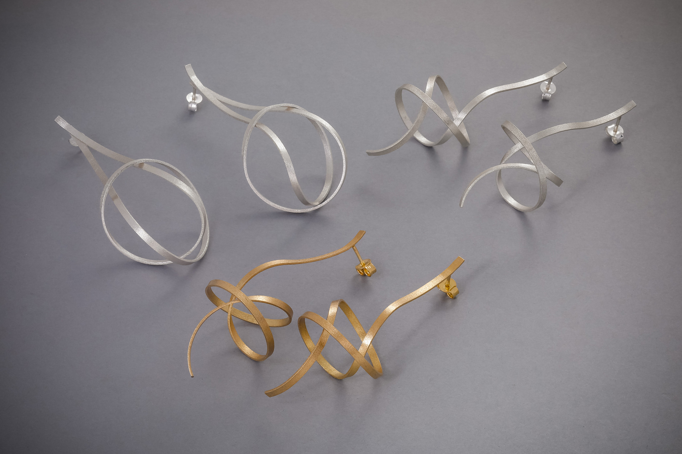 121 Spiralohrgehänge Silber, ab € 58,-, Silber vergoldet, ab € 64,-